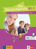 Die Deutschprofis B1.1. Kurs- und Übungsbuch mit Audios und Clips online