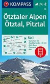 Kompass Karte Ötztaler Alpen, Ötztal, Pitztal