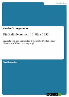 Die Stalin-Note vom 10. März 1952 (eBook, ePUB)