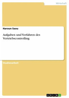 Aufgaben und Verfahren des Vertriebscontrolling (eBook, ePUB)