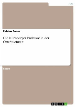 Die Nürnberger Prozesse in der Öffentlichkeit (eBook, PDF)