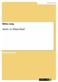 Asset- vs. Share-Deal (eBook, ePUB)
