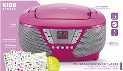 BigBen Kids, Tragbares CD/Radio CD60, CD-Player, pink