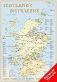 Whisky Distilleries Scotland - Poster 70x100cm Premium Edition