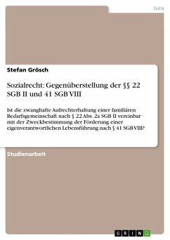 Sozialrecht: Gegenüberstellung der §§ 22 SGB II und 41 SGB VIII (eBook, ePUB)