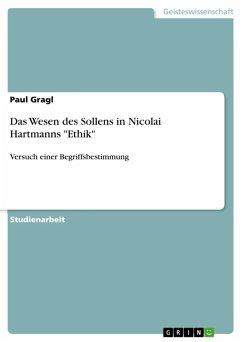 """Das Wesen des Sollens in Nicolai Hartmanns """"Ethik"""" (eBook, ePUB)"""