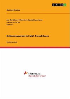 Risikomanagement bei M&A Transaktionen (eBook, ePUB)
