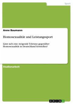Homosexualität und Leistungssport (eBook, ePUB)