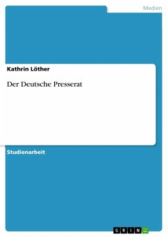 Der Deutsche Presserat (eBook, ePUB)