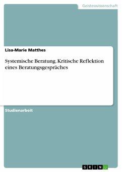 Systemische Beratung. Kritische Reflektion eines Beratungsgespräches
