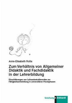 Zum Verhältnis von Allgemeiner Didaktik und Fachdidaktik in der Lehrerbildung (eBook, PDF) - Roßa, Anne-Elisabeth