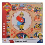 Simba 109255601 - Feuerwehrmann Sam, Operations Board, Einsatztafel Steckspiel, 30x30cm, Puzzle