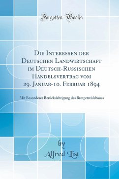 Die Interessen der Deutschen Landwirtschaft im ...