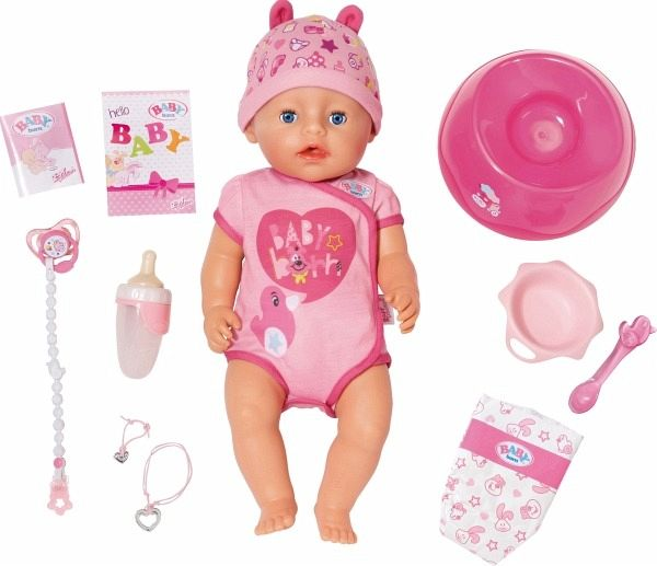 Zapf Creation 824368 Baby Born Soft Touch Girl Blue Eyes Puppe