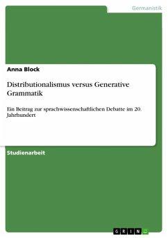 Distributionalismus versus Generative Grammatik (eBook, ePUB)