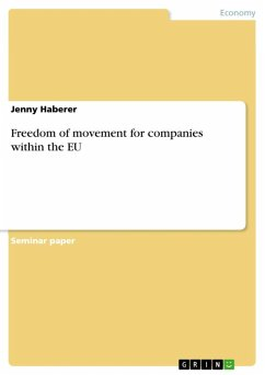 Freedom of movement for companies within the EU (eBook, ePUB)