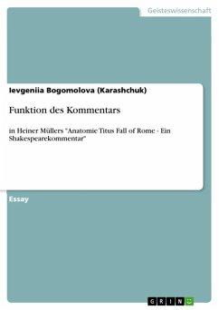 Funktion des Kommentars (eBook, ePUB)