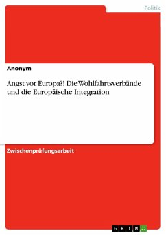 Angst vor Europa?! Die Wohlfahrtsverbände und die Europäische Integration (eBook, ePUB)