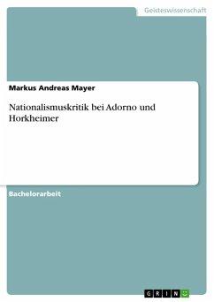 Nationalismuskritik bei Adorno und Horkheimer (eBook, ePUB)