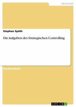 Die Aufgaben des Strategischen Controlling (eBook, ePUB)