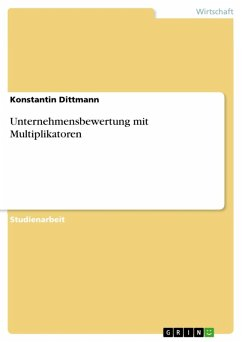 Unternehmensbewertung mit Multiplikatoren (eBook, ePUB)