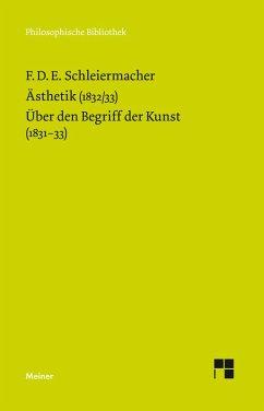 Ästhetik (1832/33) (eBook, PDF) - Schleiermacher, Friedrich Daniel Ernst