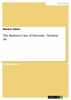 The Business Case of Diversity - Siemens AG (eBook, ePUB)