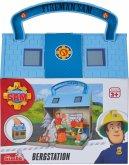 Simba 109251032 - Feuerwehrmann Sam, Bergstation, Bergrettungszentrum mit 2 Figuren