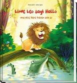 Löwe Leo sagt Hallo und alle Tiere freuen sich so