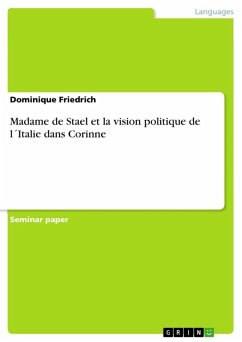 Madame de Stael et la vision politique de l´Italie dans Corinne (eBook, ePUB)