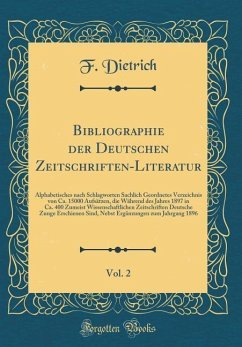 Bibliographie der Deutschen Zeitschriften-Liter...