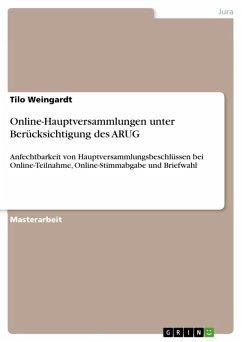 Online-Hauptversammlungen unter Berücksichtigung des ARUG (eBook, ePUB)
