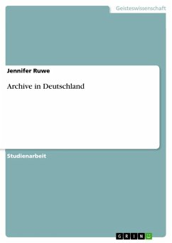Archive in Deutschland (eBook, ePUB)