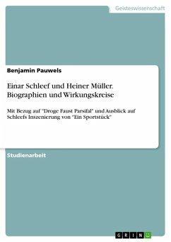 Einar Schleef und Heiner Müller (eBook, ePUB)