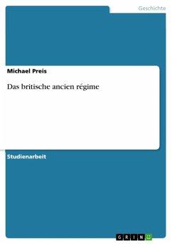 Das britische ancien régime (eBook, ePUB)