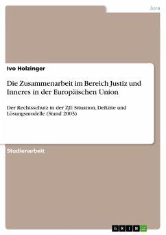 Die Zusammenarbeit im Bereich Justiz und Inneres in der Europäischen Union (eBook, ePUB)