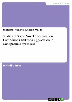 Studies of Some Novel Coordination Compounds and their Application in Nanoparticle Synthesis