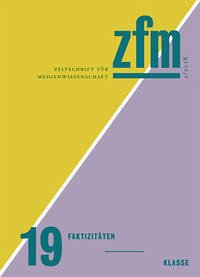 Zeitschrift für Medienwissenschaft 19