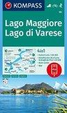 Kompass Karte Lago Maggiore, Lago di Varese