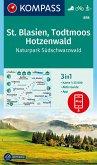 KOMPASS Wanderkarte St. Blasien, Todtmoos, Hotzenwald, Naturpark Südschwarzwald