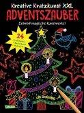 Adventszauber XXL: Set mit 24 Kratzbildern, Anleitungsbuch und Holzstift / Kreative Kratzkunst XXL Bd.4