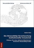 Die Stewardship-Verantwortung institutioneller Investoren (eBook, ePUB)