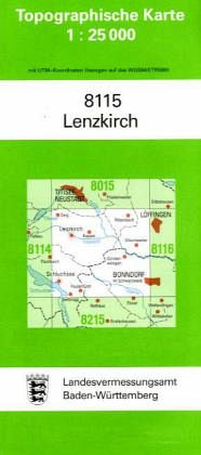 Topographische Karte Baden-Württemberg Lenzkirch