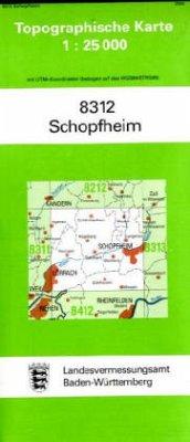Topographische Karte Baden-Württemberg Schopfheim