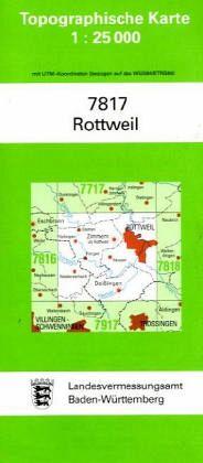 Topographische Karte Baden-Württemberg Rottweil