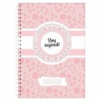 Terminplaner, Wochenplaner, Terminkalender , DIN A5 Wochenkalender und Taschenplaner rosa mit Extra-Seiten für Geburtstage, ToDo Liste, Notizen.