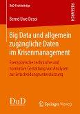 Big Data und allgemein zugängliche Daten im Krisenmanagement (eBook, PDF)