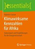 Klimawirksame Kennzahlen für Afrika (eBook, PDF)