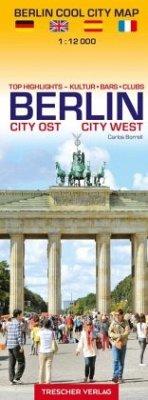 Stadtplan Berlin Cool City Map - Top Highlights: Kultur, Bars, Clubs - Borrell, Carlos