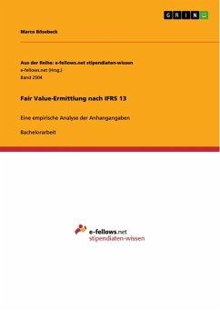 Fair Value-Ermittlung nach IFRS 13 (eBook, ePUB)